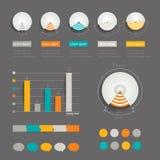 Minimalistic modern infographic folder. Stock Photo