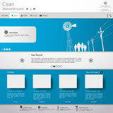 Minimalistic Modern Website Template Royalty Free Stock Photo