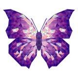 Minimalistic motyl w niskim poli- stylu ilustracji