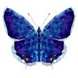 Minimalistic motyl w niskim poli- stylu royalty ilustracja