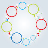 Minimalistic multicolor round elements background Stock Photography