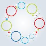 Minimalistic multicolor round elements background Stock Photography