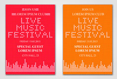 Minimalistic music festival flyer Royalty Free Stock Photography
