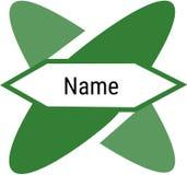 Minimalistic och geometrisk logo Arkivbilder