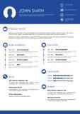 Minimalistic personlig vektormeritförteckning - CV-mall Fotografering för Bildbyråer