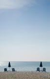 Minimalistic plaży fotografia Zdjęcia Stock