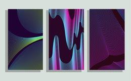 Minimalistic pokrywy Halftone gradienty Ilustracja Wektor