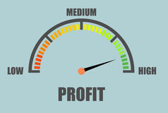 Minimalistic Profit Meter Stock Photo
