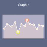 Minimalistic progressive diagram,scheme. Royalty Free Stock Photos