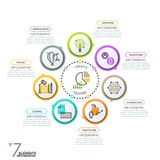 Minimalistic projekta infographic układ ilustracji