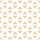Minimalistic randiga guld- trianglar för vektor av den sömlösa modellen för romb vektor illustrationer