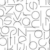 Minimalistic seamless pattern with letters. Geometric abstract vector Royalty Free Stock Photos