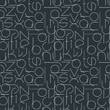 Minimalistic seamless pattern with letters. Geometric abstract vector Royalty Free Stock Photography