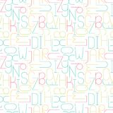 Minimalistic seamless pattern with letters. Geometric abstract Royalty Free Stock Photography