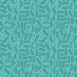 Minimalistic seamless pattern with letters. Geometric abstract vector Royalty Free Stock Image