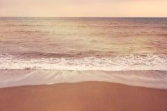 Minimalistic seascape, sand shore Stock Photography