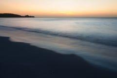 Minimalistic seascape at twilight Stock Images