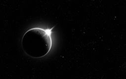 Minimalistic Solar Eclipse Royalty Free Stock Photo