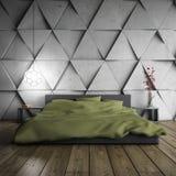 Minimalistic sovrum Royaltyfri Bild