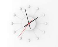 Minimalistic sphere wall clock Royalty Free Stock Images