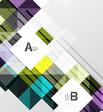 Minimalistic square shapes abstract background. Vector template background for print workflow layout, diagram, number options or web design banner Royalty Free Stock Photos