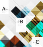 Minimalistic square shapes abstract background. Vector template background for print workflow layout, diagram, number options or web design banner Royalty Free Stock Image