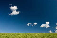 Minimalistic summer landscape Royalty Free Stock Images