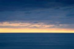Minimalistic sunset the sea Royalty Free Stock Image