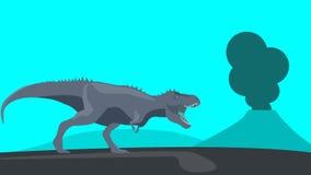 Minimalistic T-rex Fotografia de Stock