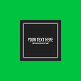 Minimalistic text frame on bright green background vector illustration