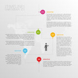 Minimalistic timeline infographics design template. Vector illustration Stock Images