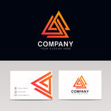 Minimalistic trójboków wieloboka ikony znaka firmy geometryczny logo Fotografia Stock