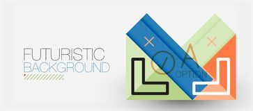 Minimalistic triangle modern banner design, geometric abstract background vector illustration