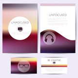 Minimalistic unfocused design, set of templates Royalty Free Stock Photos