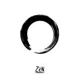 Minimalistic vector Enso. Zen circle Stock Images