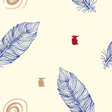 Minimalistic vector ethnic seamless pattern. Royalty Free Stock Images