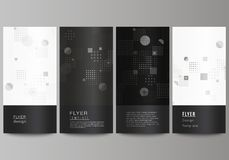 The minimalistic vector illustration of the editable layout of flyer, banner design templates. Abstract vector. Background with fluid geometric shapes royalty free illustration