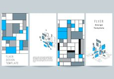 The minimalistic vector illustration of the editable layout of flyer, banner design templates. Abstract polygonal royalty free illustration