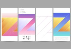 The minimalistic vector illustration of the editable layout of flyer, banner design templates. Creative modern cover. Concept, colorful background vector illustration