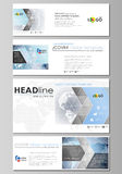 The minimalistic vector illustration of the editable layout of social media, email headers, banner design templates  Stock Photography