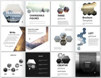 The minimalistic vector illustration of the editable layout of square design bi fold covers design templates for royalty free illustration