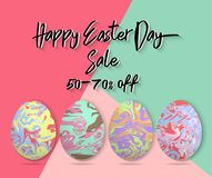 Minimalistic vector template design with Easter Eggs. Easter spe Royalty Free Stock Photography