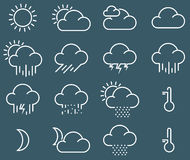 Minimalistic weather icons Stock Photo