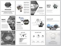 Minimalistic wektorowa ilustracja editable układ kwadratowe format pokrywy projektuje szablony dla broszurki, ulotka royalty ilustracja
