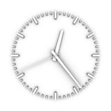 White clock. Minimalistic white clock front view Royalty Free Stock Image