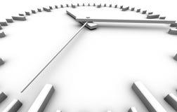 White clock. Minimalistic white clock perspective view vector illustration