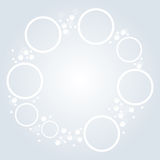 Minimalistic white round elements background Royalty Free Stock Photo