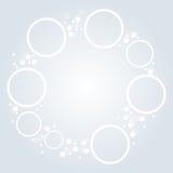 Minimalistic white round elements background Royalty Free Stock Photo