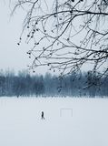 Minimalistic winter field Royalty Free Stock Image