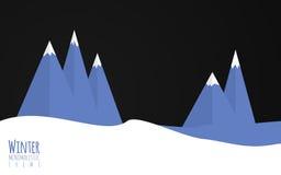 Minimalistic winter themer Royalty Free Stock Photography